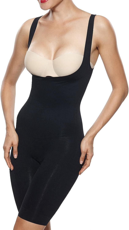 Beilini Women's Shapewear OpenBust Body Shaper Tummy Control Bodysuit