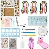 Quilling Kit y papel Set 17pcs Set 780hojas color DIY herramienta de artesanía de papel para