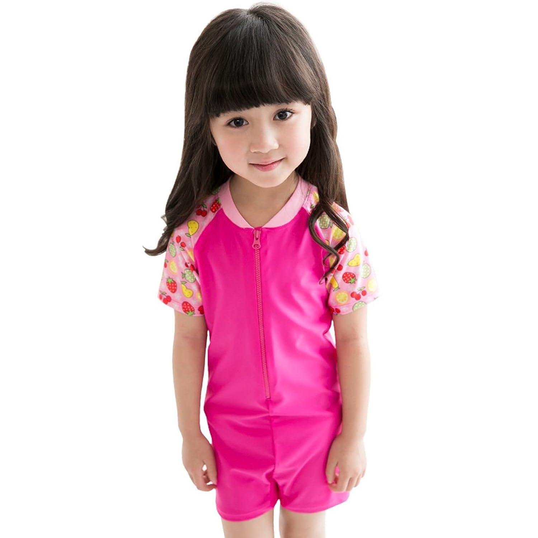 Childrens UV保護水着一体型ラッシュガード