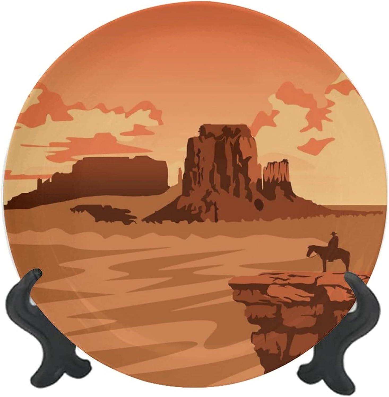 2021 model Customized Ceramic Decorative Plate Ceram Monument Navajo Sales results No. 1 Valley
