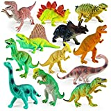 Boley 12 Pack 9' Educational Dinosaur Toys - Kids Realistic Toy Dinosaur Figures for Cool Kids and Toddler Education! (T-rex, Triceratops, Velociraptor, etc)