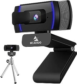 AutoFocus 1080P Webcam with Mini Tripod Kits, NexiGo UHD USB Web Camera with Microphone, Privacy Cover, Extendable Tripod ...
