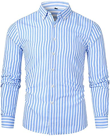 CESSBO Camisas para Hombre, Informal, clásicas, de Negocios ...