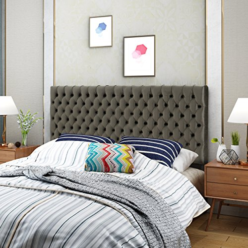 Christopher Knight Home 303700 Jezebel Headboard, Cal King, Grey/Black