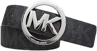 Mk Signature Monogram Logo Buckle and Belt