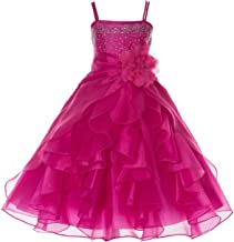 ekidsbridal Shimmering Organza Rhinestones Junior Flower Girl Dress Holy Communion J120NF