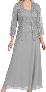 Womens Lace Mother of The Bride Dress Formal Gowns with Jacket - coolthings.us