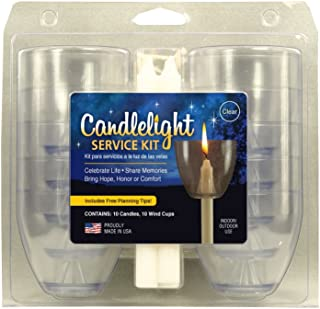 Candlelight Service Kit - includes (10) Clear Wind/Drip Cups and (10) .5