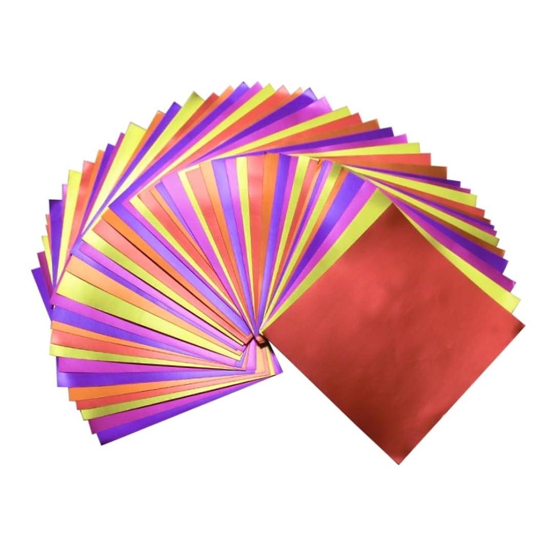GuCra Reddish Foil Paper 90 Sheets Pack, Origami Folding Paper Metallic Red Colors, 5.9