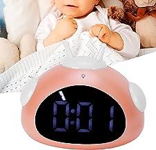 Nattljus väckarklocka, lätt väckarklocka för barn väckarklocka stabil för sovrum