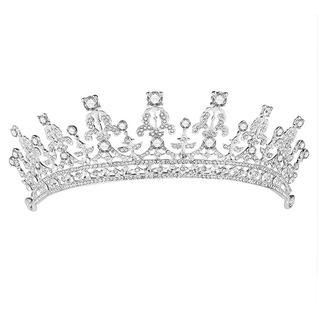 矛盾プラスチック評価するHealifty ウェディングヘアアクセサリー女性用花嫁冠(シルバー)