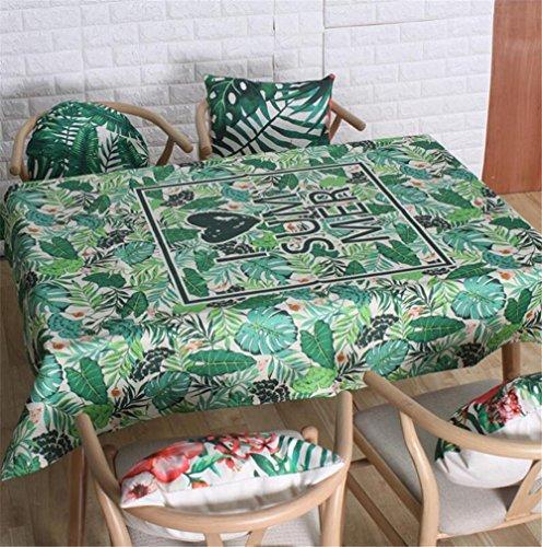 MFFACAI Vintage Rectangular de algodón de Lino Viento Nacional Mantel, Mantel Lavable Cena Picnic Table Cloth Inicio, 140 * 250