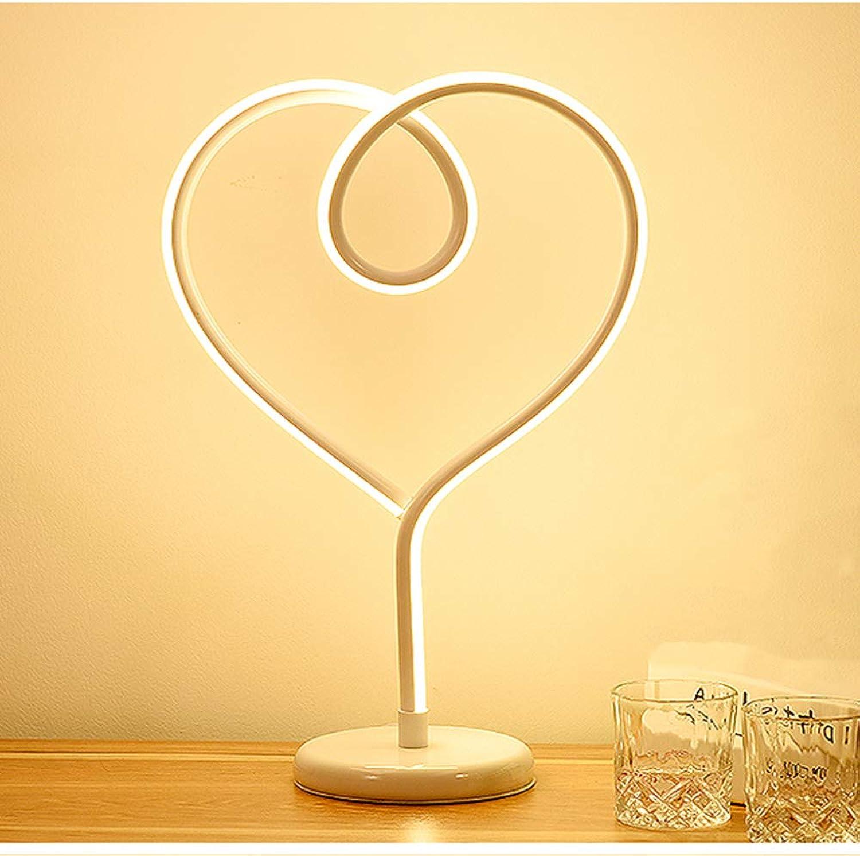 LZH LED-Tischleuchte, Einfache Und Warme Romantische Schlafzimmer-Nachttischlampe Moderne Tischlampe Der Kreativen Persnlichkeit