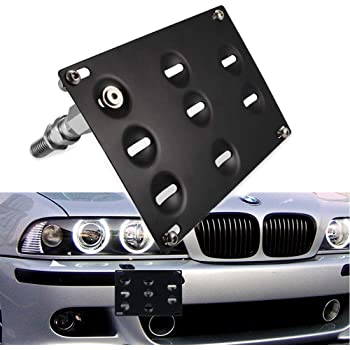 cciyu Tow Hook License Front Bumper Plate Mount Bracket Holder Bolt fit for 2007-2013 BMW E92 E93 3-Series 2Dr Coupe//Convertible