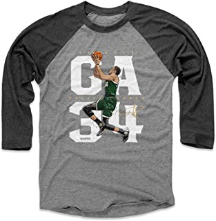 Giannis Antetokounmpo Shirt - Milwaukee Basketball Raglan Tee - Giannis Antetokounmpo GA34