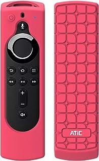 リモコンカバー ATiC 5.6インチ 新登場 Fire TV Stick 4K専用リモコンカバー シリコン製 耐衝撃 防水防塵 Alexa対応音声認識リモコン用保護カバー Magenta