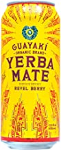 Guayaki Organic Yerba Mate Revel Berry 15.5 oz (Case of 12), Raspberry & Blackberry Yerba Mate Drink, Naturally Caffeinated, Made with Organic, Fair Trade and Non-GMO Ingredients