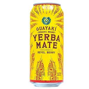 Guayaki Organic Yerba Mate, Revel Berry, 15.5 Ounce (Pack of 12)