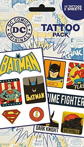 GB Eye LTD, DC Comics, Retro, Set de Tatouages