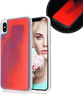 Losin Fluorescent Case Compatible with Apple iPhone XR Case Luxury Glow in The Darkness Noctiluncent Liquid Luminous Sand Hard PC + Soft TPU Fluorescent Case