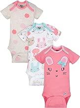 Gerber Organic Cotton Baby Girls Onesies Bodysuits 3-Pack, Size Preemie