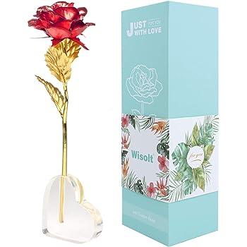 Mitening Personalisierte Frauen Geschenk, 24K Gold Rose ...
