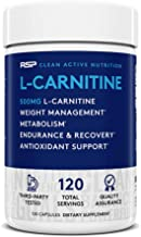 RSP L-Carnitine: Non-Stimulant L Carnitine, Weight Loss Supplement and Metabolism for Men and Women, Amino Acid Workout Di...