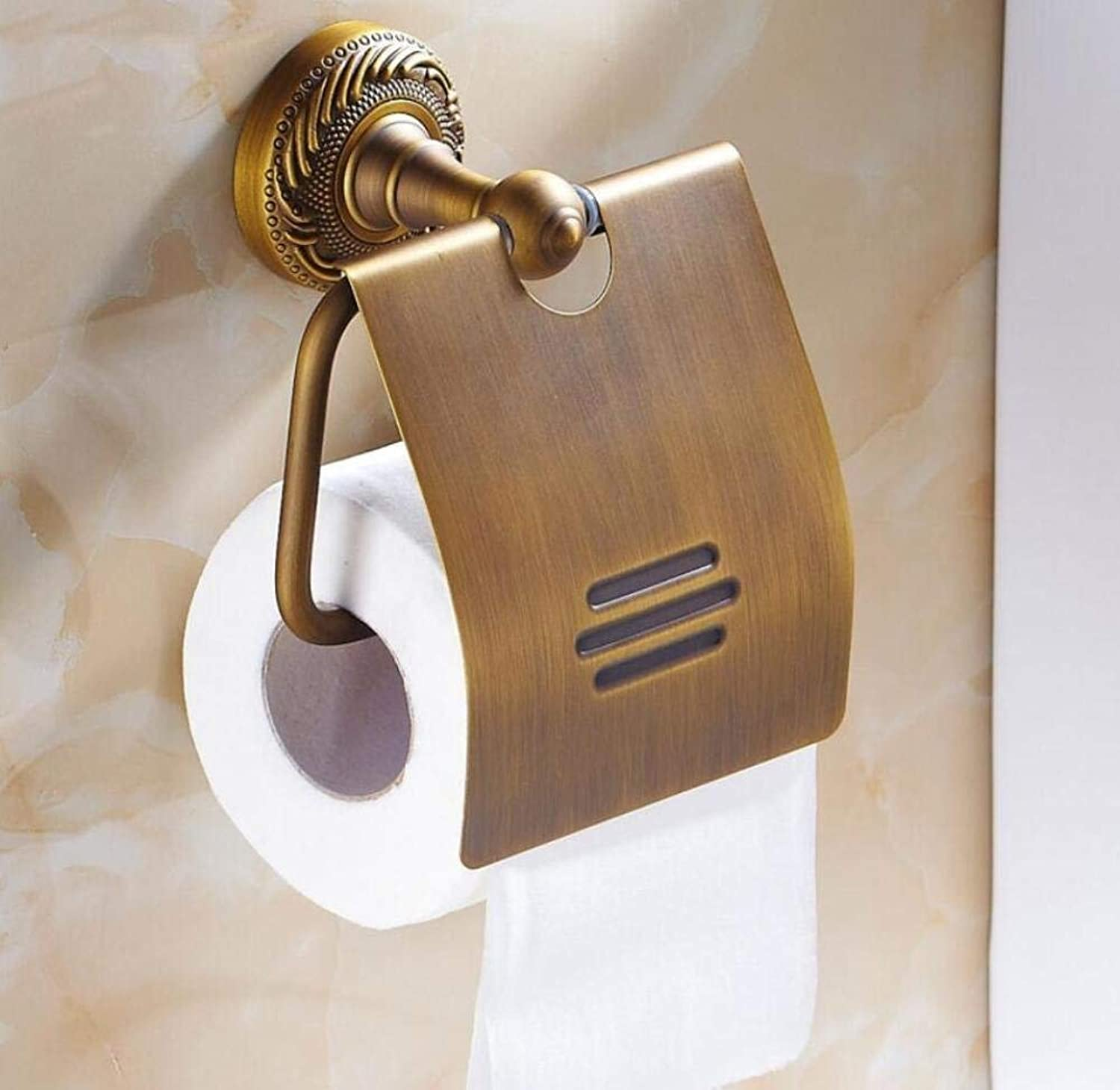 European Fabric Copper for The Wall Mount Accessory Holder of Bathroom Toilet distributors in Place Holders of Toilet Paper Door-Fabric Vintage of The Organization of Storage Space