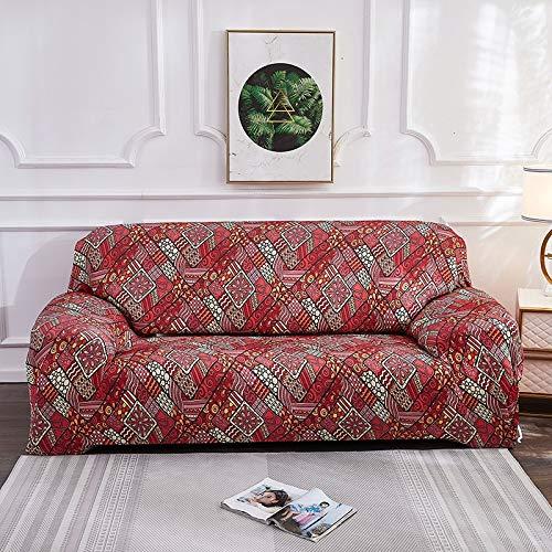 Fundas elásticas de Bohemia para sofá, Funda Universal para sofá, Funda de Esquina para sofá seccional elástica de algodón, para Sala de Estar, Mascotas A15, 3 plazas