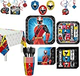 Party City Power Rangers Ninja Steel Party Kit, Includes Tableware, Tablecloths and Decor; 8 Guests