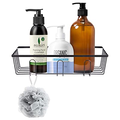 HOMEIDEAS Adhesive Bathroom Shower Caddy Mental...