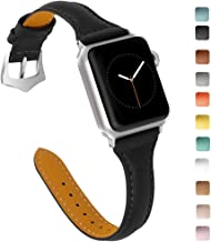 OULUCCI Compatible Apple Watch Band 38mm 40mm, Top Grain Leather Band Replacement Strap for iWatch Series 5, Series 4,Series 3,Series 2,Series 1,Sport, Edition