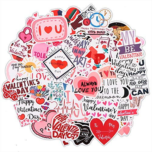 FaCraft Valentine's Day Stickers,Love Sticker Scrapbook Stickers for Laptop,Couple Daily Planner,Weeding Scrapbooking Supplies (Valentine's Day Stickers)