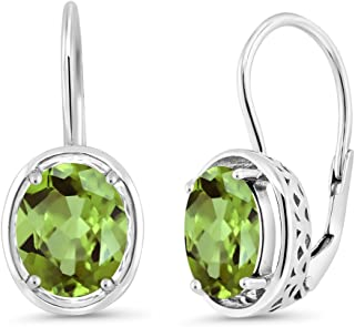"""Details about  /STERLING 925 Peridot Hanging Earrings 2 1//3/"""""""