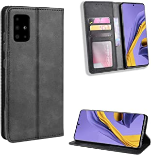 MANGOFISHER Case For Samsung Phone,Samsung Galaxy A71 Mobile Case Retro Card Magnetic Flip Phone Case Cover