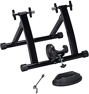 Yuauy Bike Trainer Front Wheel Riser Block Stand Stabilize Support Black for Indoor Bicycle Training and Stationary Bike