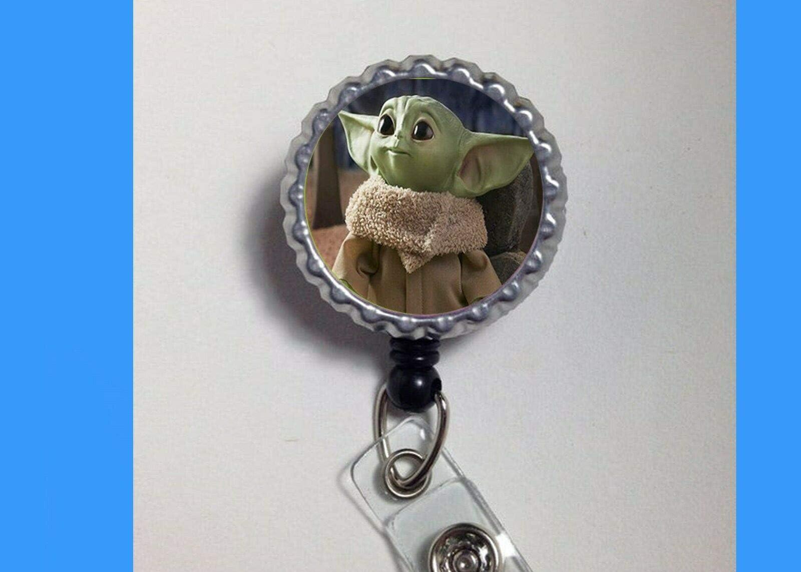 Star Wars Retractable Badge Holder ID Reel Clip On Card School Work MANDALORIAN