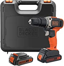 Black+Decker 18V 1.5Ah 650 RPM Combi Hammer Drill with 2 Batteries in Kitbox for Metal, Wod & Masonry Drilling & Screwdriv...
