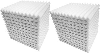 12st / 24pcs Wedge Ljudabsorbenter Wall ljudisolerade plattor 12 Studio Sound Proof Record Tiles Isolering 12 Triangulär G...