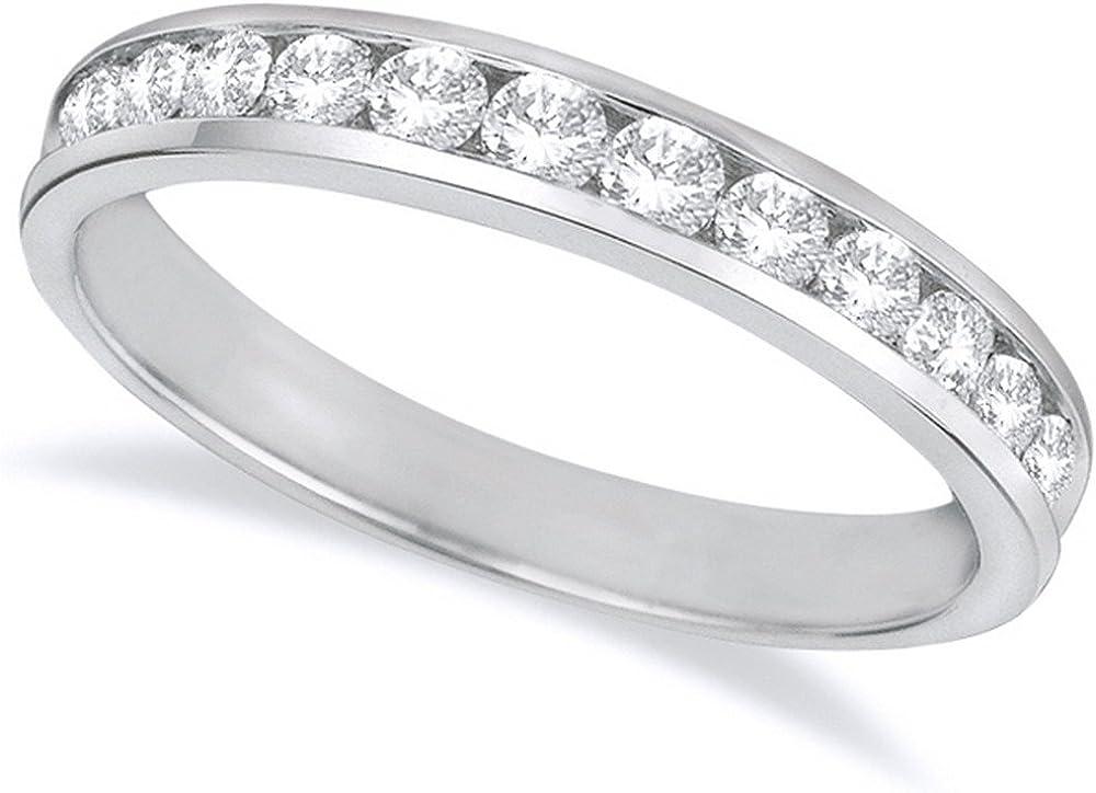 1 2 Carat Product Brand Cheap Sale Venue ctw 14K White Se Gold Round Channel Ladies Diamond