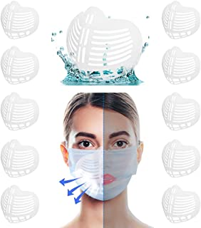 3D Mask Bracket Internal Support Frame Protect Lipstick Lips Inner Support Bracket for Comfortable Breathing Washable Reusable Face Mask Accessories (10PCS Style B)