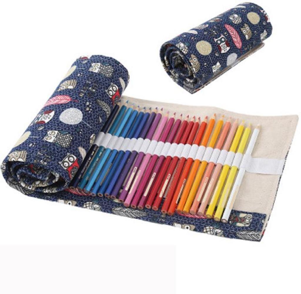 48 hoyos Estuche para lápices, Holacha Bolso enrollable de almacenamiento Roll Up Retro, para estudiantes, mujer, chicos: Amazon.es: Hogar