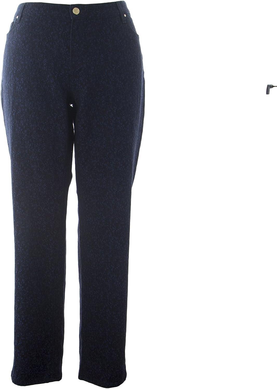 Marina Rinaldi Women's Idrofono Printed Jeans Navy bluee