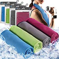 COOL FAST & LAST LONG - Chill in second! The icy cold snap towel is made of hyper-evaporate breathable mesh material. It uses the moisture from the towel to draw sweat away and keep you cool instantly. The rag stay cool for hours. QUALITY YOU CAN FEE...