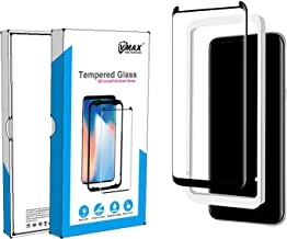 VMAX MORE THAN YOU SEE Samsung Galaxy S8 Plus/8+ (Full Coverage) Screen Protector, [Case Friendly] Corning 3D Curved HD Clear Tempered Glass Screen Protector for Samsung Galaxy s8 Plus-Black