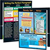 """Really Good Stuff Intermediate Writing Resource 2-Pocket Laminated Folders, 9½"""" by 12"""" (Set of 12) – Help Students Write Independently – Strengthens Writing – Keeps Work Organized"""