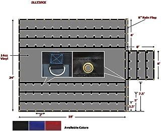 Mytee Products Super Light 14 Oz Lumber Tarp 24x18 (8' Drop with 8' x 8' Flap) - Black