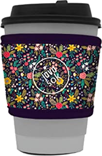 Java Sok Reusable Hot Coffee Cup Insulator Sleeve for Hot Coffee and Tea from Starbucks Coffee, McDonalds, Dunkin Donuts, More (English Garden Picnic)