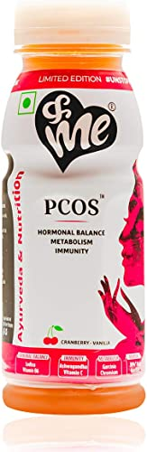 Me PCOS PCOD Women Health Drink With Ayurvedic Herbs And Vitamins Shatavari Lodhra Vitamin B12 200Ml Cranberry Flavour Pack Of 1