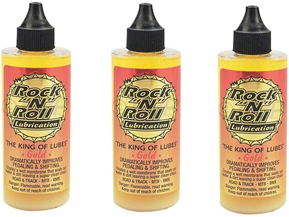 Rock N Roll 135816 Ranking TOP4 Gold 3-Pack 4-Ounce All stores are sold Chain Lubricant